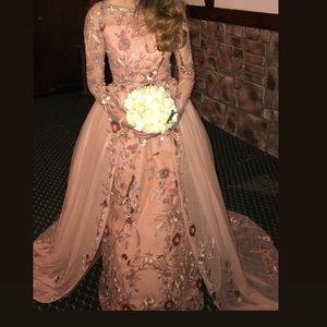 custom made beaded gown